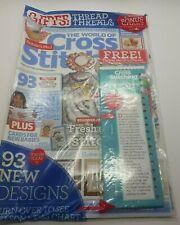 The World Of Cross Stitching Magazine #205 + Thread Sorter & Threads -BRAND NEW