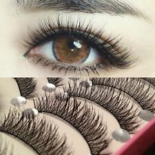 10 Pairs Makeup Long Thick Cross Beauty False Eyelashes Eye Lashes Extension HS7