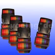 """4x Koffergurt Koffergurte Kofferband Gepäckband Gepäckbänder Design """"Regenbogen"""""""