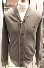 MEN'S FRED PERRY MOD CARDIGAN SIZE MEDIUM (EXCELLENT CONDITION) BROWN