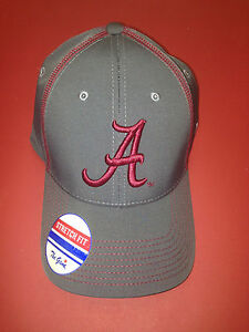 University of Alabama Charcoal Grey Cap with Crimson Embroidered Script A