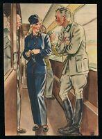 WW2 WWII Germany 3rd Reich Postcard German Cover Hitler Women War Aid 1940 Mint