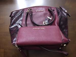 MICHAEL Kors® Riley Large Pebbled-Leather SatchelHANDBAG BAG With WALLET