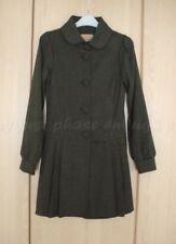 Final Touch Brown Pleat Princess Coat Dress Small NWOT