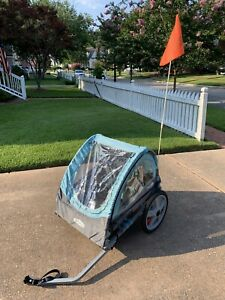 Bike Trailer For Toddlers Kids DOUBLE SEAT 2In1 Canopy Carrier  Instep