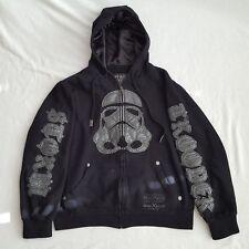Star Wars Marc Ecko Hoodie Sweatshirt Storm troopers Cut Sew Graphics Size S Zip