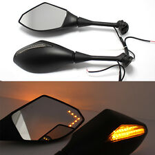 MOTORCYCLE REARVIEW MIRRORS TURN SIGNAL MATTE BLACK FOR CBR600RR 1000RR GSX-R600
