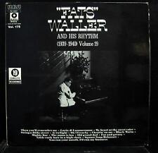 Fats Waller - 1939-1940 Volume 19 LP Mint- PM 42027 France Mono Vinyl Record