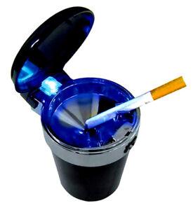 Sturmaschenbecher mit Deckel und blauer LED | Aschenbecher | Windaschenbecher