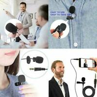 3.5mm Clip On Lapel Mini Microphone Hands Free Wired Mic HOT Lavalier Z5J9 H7C2