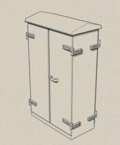O gauge model railway relay cabinets wide double type