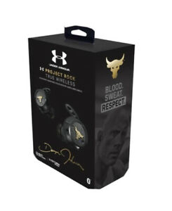NIB GOLD JBL UNDER ARMOUR PROJECT ROCK TRUE WIRELESS FLASH EARBUDS WATERPROOF