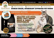 NATURES REPLIES - NEW Grain Gluten Free Free Range CHICKEN KITTEN CAT Food 7.5Kg