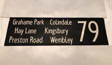 """London Linen Bus Blind 5.2.82 42""""- 79 Grahame Park Colindale Wembley Kingsbury"""
