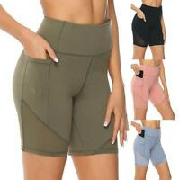 Fashion Women High Waist Yoga Abdomen Control Training Running Yoga Pants Shorts