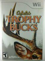 Cabela's Trophy Bucks Nintendo Wii 2008 Video Game Complete