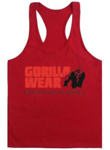 Gym Mens Bodybuilding Tank Tops Fitness Singlet Stringer Y-Back Muscle Vest