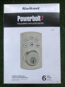 Kwikset Powerbolt 2 Deadbolt Smartkey Electronic Lock With Keys - 99070-101