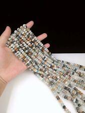 diy 6x8mm New Amazonite Blue Jade Abacus Loose Beads Strand 15 Inch