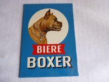Plaque publicitaire bière BOXER pub alcool (15137)