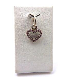 PANDORA Be My Valentine Sterling Silver Heart Pink CZ Charm Pendant 390325PCZ