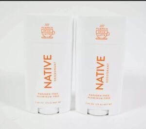 2 Native Deodorant PUMPKIN SPICE LATTE Aluminum & Paraben Free 2.65 oz PSL