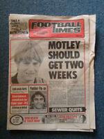 VINTAGE FOOTBALL TIMES SANFL NEWSPAPER - MAY 10, 1984. PETER MOTLEY