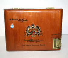 A. Fuente Don Carlos 'Robusto' Used Empty Wooden Cigar Box Sellers Label Inside