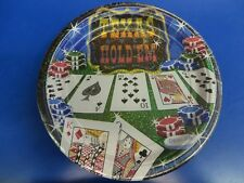"""Texas Hold 'Em Casino Night Card Suits Poker Theme Party 9"""" Paper Dinner Plates"""