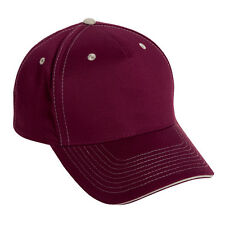 1 Dozen (12) Maroon & Khaki Blank Cotton Twill Golf/Baseball Hats - Adjustable
