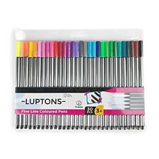 30 Fineliners Fine Line Coloured Pens Big Pack of Colouring Pen Adult Colouring