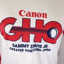 Screen Stars Red Ringer Jersey T-Shirt Cannon GHO Sammy Davis Jr Hartford Open