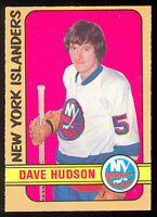 1972 73 OPC O PEE CHEE #211 DAVE HUDSON NM NEW YORK N Y ISLANDERS HOCKEY CARD