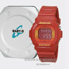 Authentic Casio Baby-G Women's Red Digital Watch BG5600SA-4