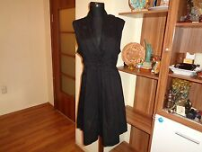 THE MASAI CLOTHING COMPANY BLACK COTTON EMPIRE TIED TUNIC DRESS-SIZE M