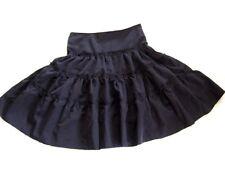 EGL Gothic Lolita Punk Black Tiered Flared Flounce Full Knee Gypsy Skirt 10 - 12