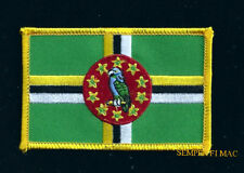 Dominica Country Hat Vest Flag Patch Souvenir Trip Gift Pin Up