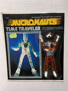 VINTAGE - Micronauts TIME TRAVELER Orange - Mego 1976 MOC Unpunched