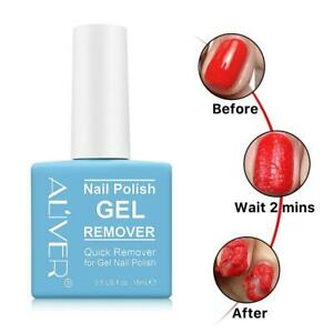 15ML Nail Gels Polish Burst Remover Soak Off Polish Supplies Nail Cleaner  U7Y8