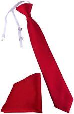 TigerTie Kinderkrawatte Einstecktuch In rot - Vorgebunden mit Gummizug