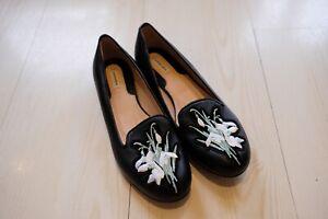 Carven Leather Flats Shoes Sz 37