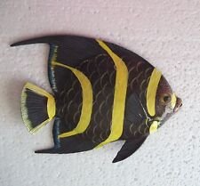 Tropical Fish Wall Plaque Tiki Bar Beach Pool Nautical Decor Size 5.75 in TFW05