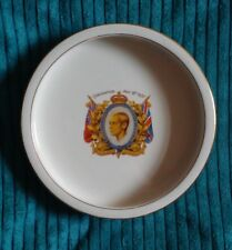 KING EDWARD VIII GILT EDGE CORONATION BOWL E HUGHES & CO FENTON STAFFORDSHIRE UK