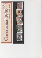 1986 ROYAL MAIL PRESENTATION PACK CHRISTMAS FOLK CUSTOMS MINT DECIMAL STAMPS