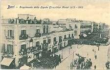 CARTOLINA d'Epoca BARI Città  - Scoprimento della Lapide Gioacchino Murat 1913