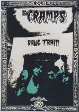 """""""THE CRAMPS / DRUG TRAIN"""" Affiche U.K. originale entoilée 1980 61x85cm"""