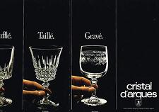 PUBLICITE  1980   CRISTAL D'ARQUES   verres LOUVRE MATIGNON TUILERIES (2 pages)