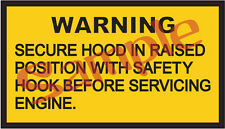 Hood Up Warning Sticker for Military M35A2 M54 M817 CUCV M151 M925 M936 New