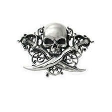 Alchemy Gothic Skull Letter of Marque Belt Buckle B75