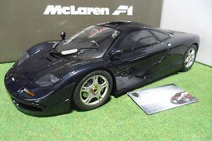 McLAREN F1 ROADCAR Dark blue metalic 1/12 MINICHAMPS 530133128 voiture miniature